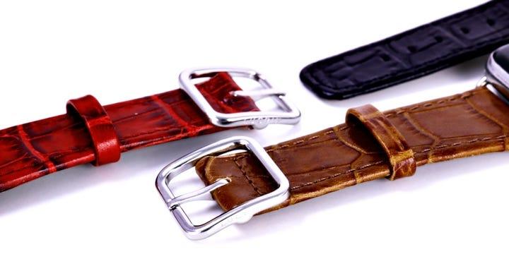 Apple Watch Series 5 优雅表带 - (44 mm) - 驼色 - 鳄鱼皮风格小牛皮